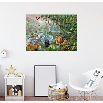 Posterlounge Wandbild Adrian Chesterman Wasserfall im Dschungel