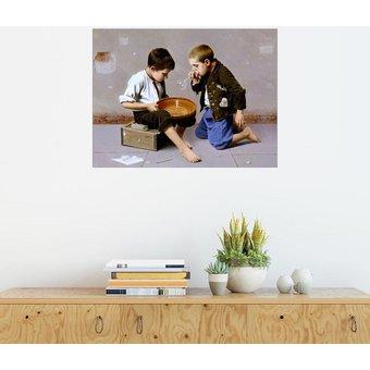 Posterlounge Wandbild Giulio del Torre Seifenblasende Kinder