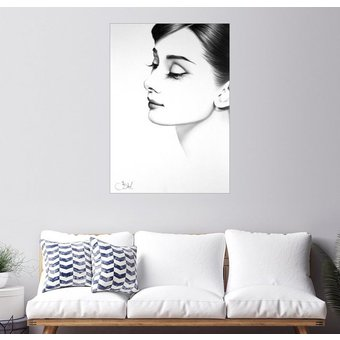Posterlounge Wandbild Ileana Hunter Audrey Hepburn
