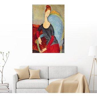 Posterlounge Wandbild Amedeo Modigliani Jeanne Hebuterne in einem Sessel sitzend