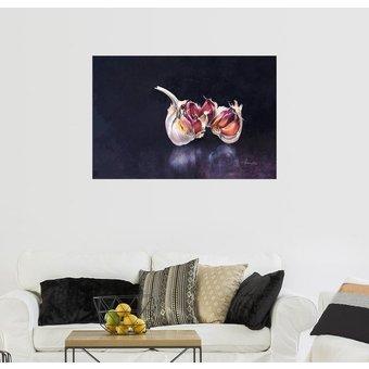 Posterlounge Wandbild John Francis Knoblauch auf Schwarz