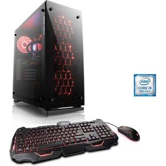 CSL HydroX T9119 Wasserkühlung Gaming-PC Intel Core i9, RTX 2080 SUPER, 16 GB RAM, 1000 GB HDD, 500 GB SSD, Wasserkühlung, Core i9-9900KF, RTX 2080S, 16 GB DDR4, SSD