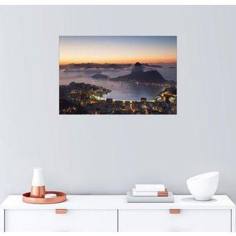 Posterlounge Wandbild Ian Trower Zuckerhut und Botafogo Bay