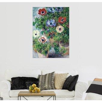 Posterlounge Wandbild Claude Monet Anemonen in einer Vase