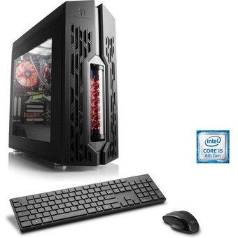 CSL Gaming PC, Intel Core i5-8400, GTX 1050 Ti, 8 GB DDR4 RAM HydroX T5450 Wasserkühlung