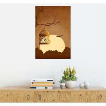 Posterlounge Wandbild Monika Jüngling Freiheit vom goldenen Käfig