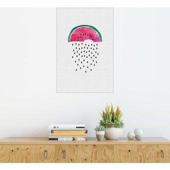 Posterlounge Wandbild Orara Studio Wassermelone Regen