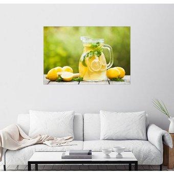 Posterlounge Wandbild Limonade im Krug und Zitronen mit Minze