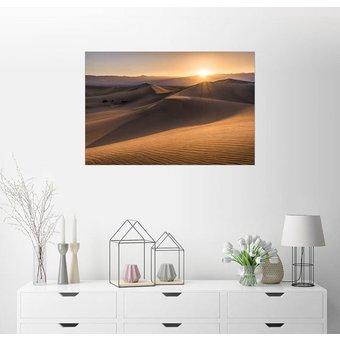 Posterlounge Wandbild Andreas Wonisch Sonnenuntergang in den Dünen des Death Valley