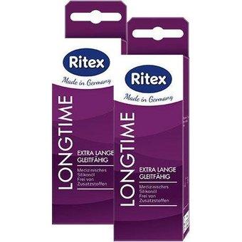 Ritex Gleit- Massageöl LongTime PLUS , Doppelpack 2x60ml , extra lange gleitfähig