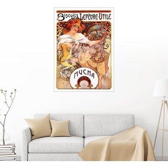 Posterlounge Wandbild Alfons Mucha Biscuits Lefevre Utile