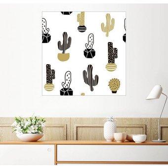 Posterlounge Wandbild Kakteen Muster