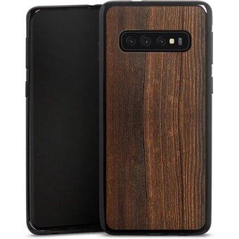DeinDesign Handyhülle Nussbaum Holzlook Samsung Galaxy S10, Hülle Nussbaum Holzoptik Holz