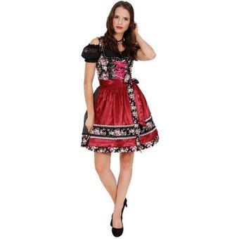 Krüger Madl Dirndl Dirndl Black Roses 50cm