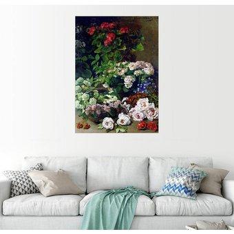Posterlounge Wandbild Claude Monet Frühlingsblumen