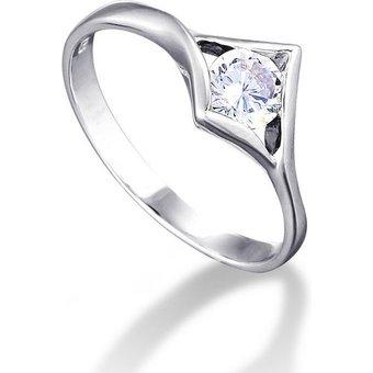 MONA MONAMOUR Ring 925 Sterling Silber rhodiniert mit funkelnden Zi