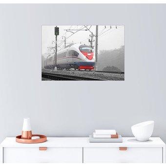 Posterlounge Wandbild Hochgeschwindigkeitszug im Nebel