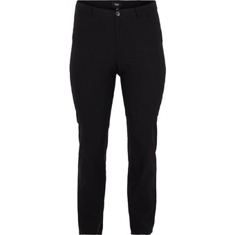Zizzi Stoffhose Damen Hose Regular Fit Stretch Leggings Geraden Beinen Grosse Grössen
