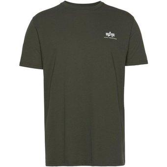 Alpha Industries Rundhalsshirt BASIC T SMALL LOGO