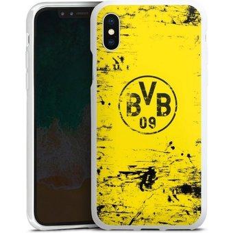 DeinDesign Handyhülle BVB Destroyed Look Apple iPhone X, Hülle Borussia Dortmund Offizielles Lizenzprodukt BVB