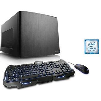 CSL Mini-ITX PC Core i5-8400, GTX 1060, 8GB DDR4, 240GB SSD Gaming Box T5361 Wasserkühlung
