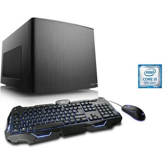CSL Mini-ITX PC Core i5-8400, GTX 1050Ti, 8GB DDR4, 240GB SSD Gaming Box T5360 Wasserkühlung