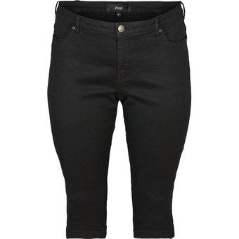 Zizzi 3 4-Jeans Damen Grosse Grössen Caprihose Slim Fit Mit Stretch