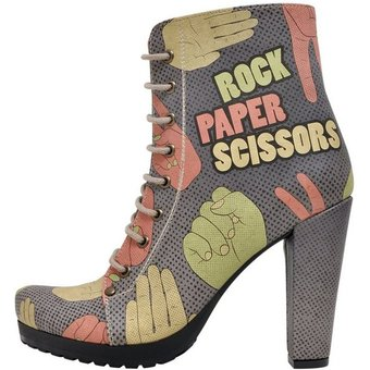DOGO Rock Paper Scissors High-Heel-Stiefelette Vegan
