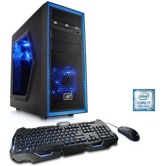 CSL Gaming PC, Core i7-8700K, RTX 2060, 16GB DDR4 RAM, 240GB SSD HydroX T9565 Wasserkühlung