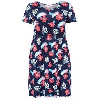 Sheego Shirtkleid mit sommerlichem Druck