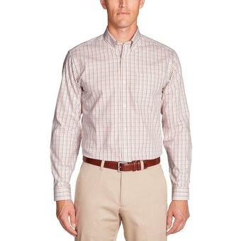 Eddie Bauer Karohemd Knitterarmes Pinpoint Oxfordhemd Langarm Classic Fit gemustert