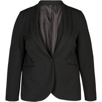 Zizzi Blusenblazer Damen Blazer Langarm Elegant Anzugjacke Grosse Grössen