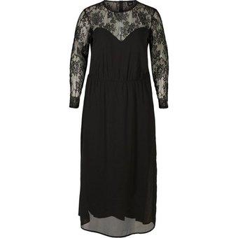Zizzi Spitzenkleid Damen Grosse Grössen Kleid Langarm Elegant Spitze Abendkleid