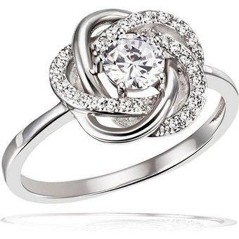 goldmaid Damenring Ring Blüte 925er Sterlingsilber 31 Zirkonia