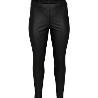 Zizzi Leggings Damen Grosse Grössen Tight Kunstleder Slim Fit Stretch Hose