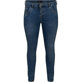 ZAY Slim-fit-Jeans Grosse Grössen Damen High Waist Super Slim Fit