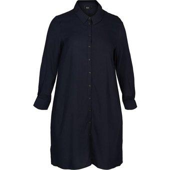 Zizzi Shirtkleid Grosse Grössen Damen langärmelig mit Blusenkragen