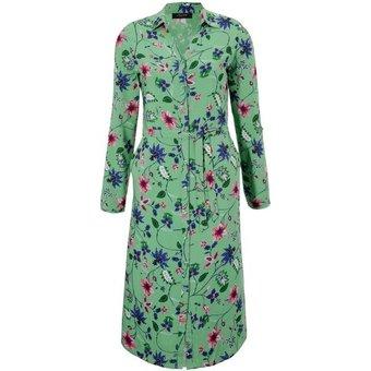 Aniston CASUAL Hemdblusenkleid mit Blumendruck NEUE KOLLEKTION