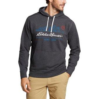 Eddie Bauer Kapuzensweatshirt Camp Fleece mit gesticktem Logo
