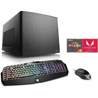 CSL Mini-ITX PC Ryzen 5 3400G, Radeon Vega 11, 16 GB DDR4, SSD Gaming Box T8511 Wasserkühlung
