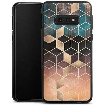 DeinDesign Handyhülle Ombre Dream Cubes Samsung Galaxy S10e, Hülle Gold Kupfer Würfel Elisabeth Fredriksson