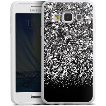 DeinDesign Handyhülle Snow Fall Glitter Look Samsung Galaxy A3 2015 , Hülle Glitzer Look Schneeflocken Muster