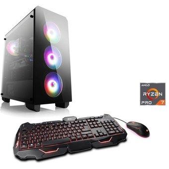 CSL Sprint T8621 Windows 10 Gaming-PC AMD Ryzen 7, RX 5700 XT, 16 GB RAM, 2048.0 GB HDD, 1000 GB SSD