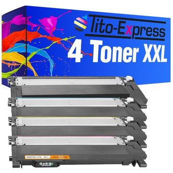 Tito-Express PlatinumSerie Tonerpatrone 4er Set Toner mit Chip ersetzt HP W2070A W2071A W2072A W2073A 117A 117 A