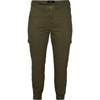 Zizzi Cargohose Grosse Grössen Damen Cargo Hose aus Baumwolle mit Taschen