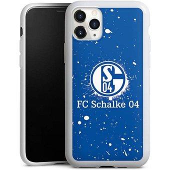DeinDesign Handyhülle Schalke 04 Spraylogo Apple iPhone 11 Pro, Hülle FC Schalke 04 S04 Offizielles Lizenzprodukt