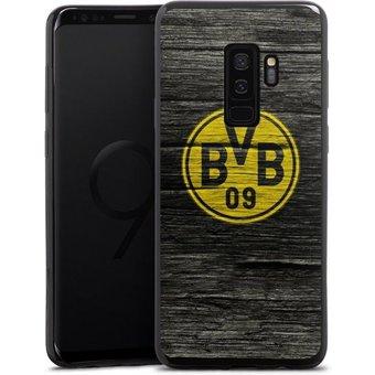 DeinDesign Handyhülle BVB Holzoptik Samsung Galaxy S9 Plus Duos, Hülle Borussia Dortmund BVB Holzoptik