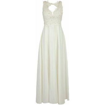 Apart Abendkleid Abendkleid mit semitransparentem Oberteil mit tiefem V-Ausschnitt
