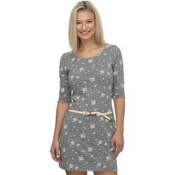 Ragwear Shirtkleid TAMY A 2-tlg., mit abnehmbarem Gürtel mit Blümchen-Allover-Druck