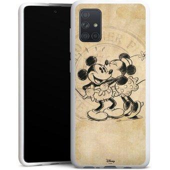 DeinDesign Handyhülle Minnie Mickey Samsung Galaxy A71, Hülle Mickey Mouse Offizielles Lizenzprodukt Minnie Mouse